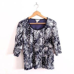 2/$20 Lace Abstract Print Scoop Neck Shirt Sz XL